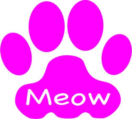 WickedGoodz Pink Cat Paw Meow Vinyl Window Decal Transfer - Cat Bumper Sticker - Perfect Cat Mom Gift-WickedGoodz