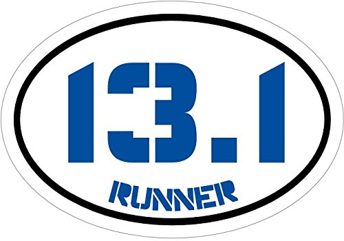 WickedGoodz Blue13.1 Runner Half Marathon Vinyl Window Decal - Half Marathon Bumper Sticker - Running Decal - Perfect for Runners and Marathoners Gift-WickedGoodz