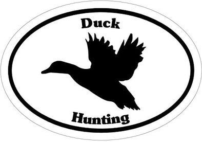 WickedGoodz Oval Vinyl Duck Decal - Waterfowl Hunting Bumper Sticker - Perfect Outdoors Sportsman Gift-WickedGoodz