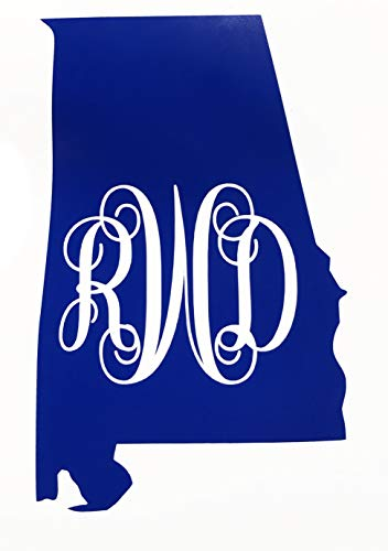 Custom Alabama Vine Monogram Vinyl Decal-WickedGoodz