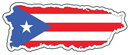 WickedGoodz Puerto Rico Vinyl Decal - Distressed Flag Bumper Sticker - Perfect Puerto Rican Gift-WickedGoodz