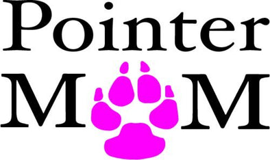 WickedGoodz Vinyl Pink Paw Pointer Mom Decal - Dog Bumper Sticker - Perfect Pet Owner Gift-WickedGoodz