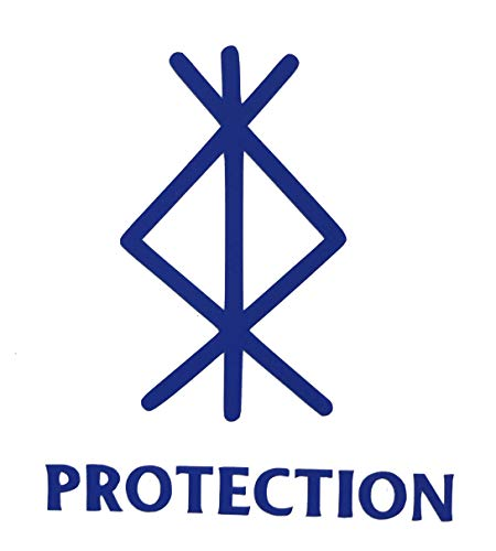 Viking Protection Rune Vinyl Decal - Norse Bumper Sticker, for Laptops or Car Windows - Great Scandinavian or Icelandic Heritage Gift-WickedGoodz