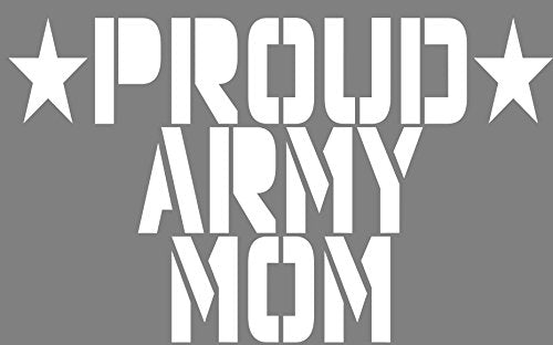 Proud Army MOM Vinyl Sticker White Transfer - Army Bumper Sticker - Army Mom Decal - Perfect Army Mom Gift - Made in The USA-WickedGoodz
