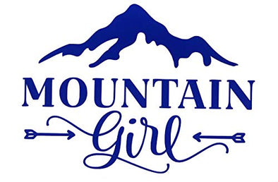 Custom Personalized Vinyl Mountain Girl Decal - Hiking Bumper Sticker, for Tumblers, Laptops, Car Windows-WickedGoodz