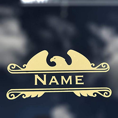 Custom Personalized Vinyl Family Name Decal, Eagle Bumper Sticker, For Tumblers, Walls, Mailboxes, Cars, Windows,-WickedGoodz