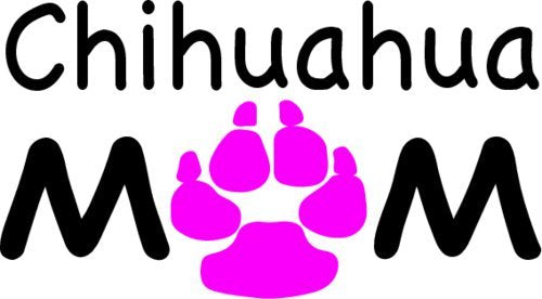 WickedGoodz Chihuahua Mom Vinyl Window Decal Transfer - Chihuahua Bumper Sticker - Perfect Chihuahua Dog Pet Owner Gift-WickedGoodz