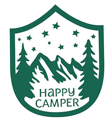 Happy Camper Vinyl Decal Mountain Tumblr Sticker-WickedGoodz