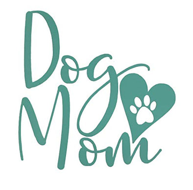 Custom Dog Mom Heart Vinyl Decal-WickedGoodz
