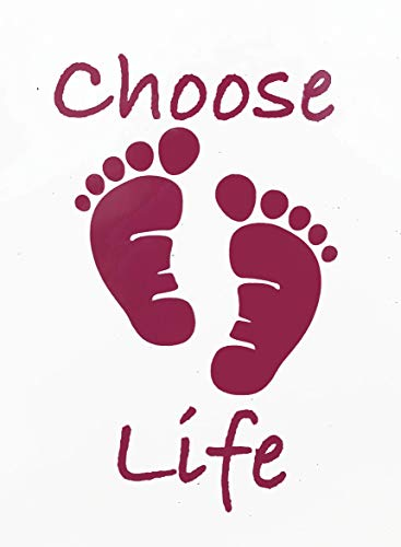 Custom Foot Prints Choose Life Vinyl Decal-WickedGoodz