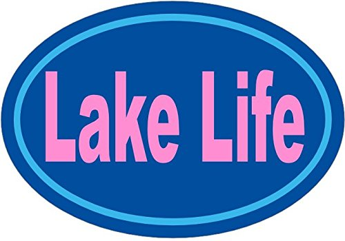 WickedGoodz Blue Pink Lake Life Vinyl Decal - Bumpers Sticker - Perfect Lake Home Decor Gift-WickedGoodz