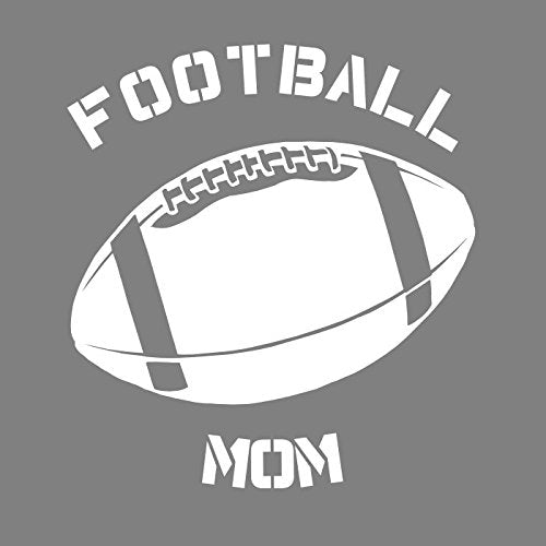 WickedGoodz Proud Football Mom Decal - Sports Bumper Sticker - Perfect Foot Ball Mother Gift-WickedGoodz