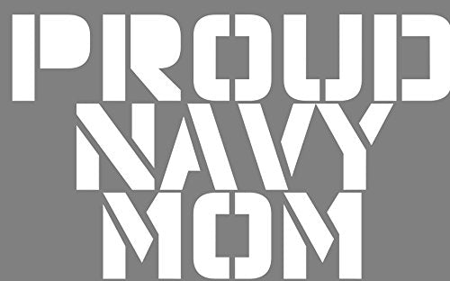 WickedGoodz Vinyl Proud Navy Mom Decal Transfer - Navy Bumper Sticker - Perfect Navy Mother Gift-WickedGoodz