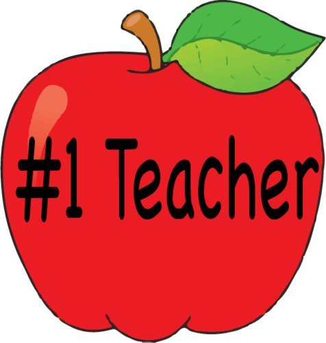 WickedGoodz Vinyl Teacher Apple Decal - Apple Bumper Sticker - Perfect Teacher Appreciation Gift-WickedGoodz