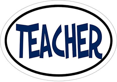 WickedGoodz Oval Teacher Vinyl Decal-WickedGoodz