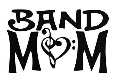 Custom Music Band Mom Vinyl Decal - Musician Bumper Sticker - Funny Music Gift-WickedGoodz