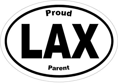 WickedGoodz Oval Proud LAX Parent Vinyl Decal - Lacrosse Bumper Sticker - Perfect Lacrosse Player or Coach Gift-WickedGoodz