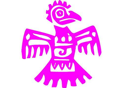 Pink Aztec Eagle Vinyl Window Decal-WickedGoodz