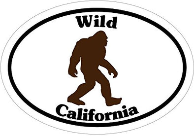 WickedGoodz Oval Vinyl Wild California Sasquatch Decal - Bigfoot Bumper Sticker - Perfect Vacation Cali Gift-WickedGoodz