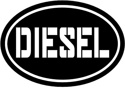 WickedGoodz Black Diesel Vinyl Window Decal - Diesel Bumper Sticker - Perfect Truck Owner Gift-WickedGoodz