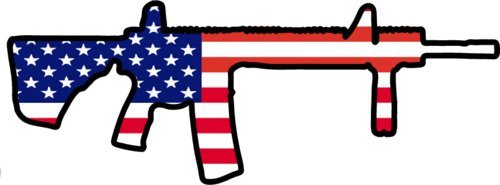 Vinyl American Flag Ar-15 Decal - Ar15 Bumper Sticker - 2nd Amendment Gift-WickedGoodz