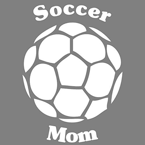 WickedGoodz White Vinyl Soccer Mom Decal-WickedGoodz