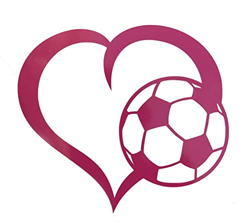 Custom Soccer Ball Heart Vinyl Decal Personalized Soccer Gift-WickedGoodz