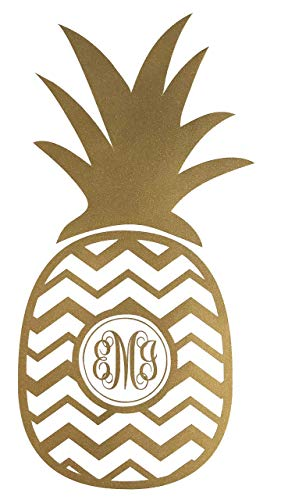 Pineapple Monogram Decal-WickedGoodz