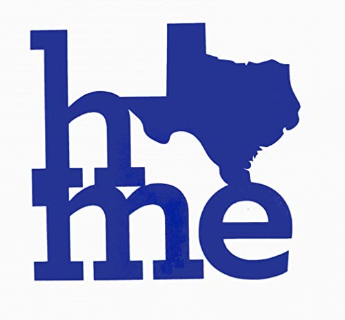 Custom Texas Vinyl Decal - Home TX Bumper Sticker, for Tumblers, Laptops, Car Windows - Pick Size and Color-WickedGoodz