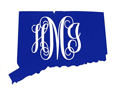Custom Connecticut Vine Monogram Vinyl Decal-WickedGoodz