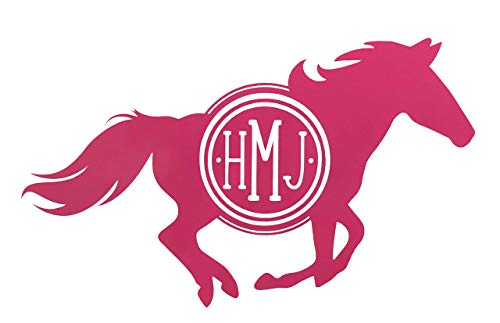 Custom Horse Monogram Vinyl Decal Equestrian Bumper Sticker-WickedGoodz