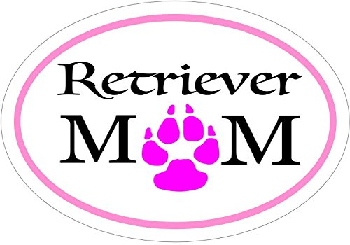 WickedGoodz Retriever Decal - Pink Oval Retriever Mom Retriever Vinyl Sticker - Retriever Bumper Sticker - Perfect Retriever Owner Gift - Made in The USA-WickedGoodz