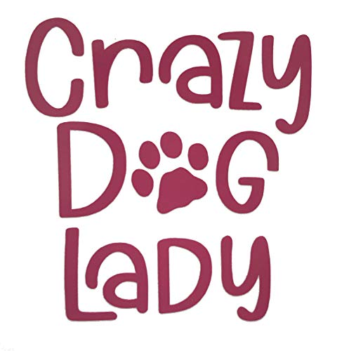 Custom Crazy Dog Lady Vinyl Decal-WickedGoodz