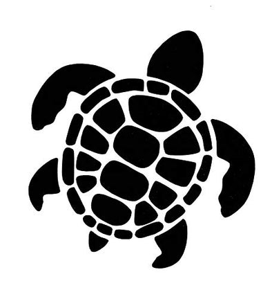 WickedGoodz Die Cut Sea Turtle Decal - Turtle Bumper Sticker, for Cups Tumblers Windows Laptops, Perfect Beach Gift-WickedGoodz