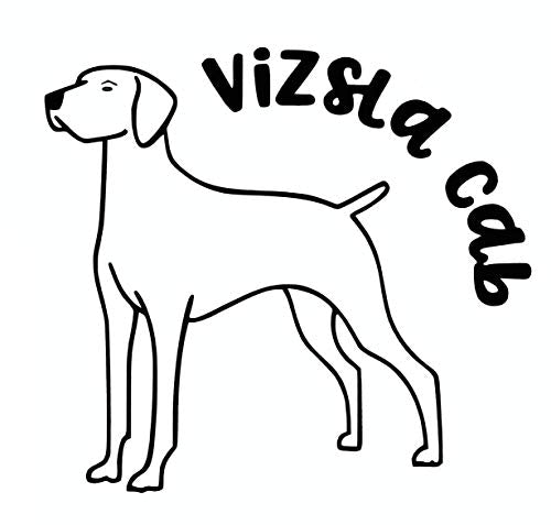 Custom Vizsla Cab Vinyl Decal - Dog Breed Bumper Sticker, for Laptops or Car Windows - Paw Print Transfer-WickedGoodz