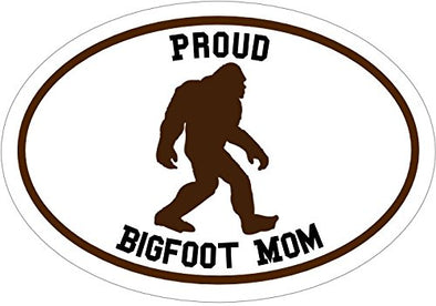 WickedGoodz Oval Vinyl Proud Bigfoot Mom Decal - Sasquatch Bumper Sticker -Perfect Funny Mother Gift-WickedGoodz