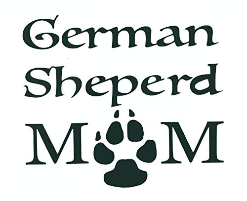 German Shepherd Mom Decal - Dog Bumper Sticker - Pick Color and Size-WickedGoodz