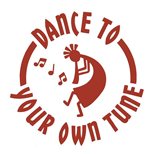Custom Kokopelli Decal - Music Southwestern Bumper Sticker, for Tumblers, Laptops, Car Windows, Tribal Art Design, Dance to Your Own Tune-WickedGoodz