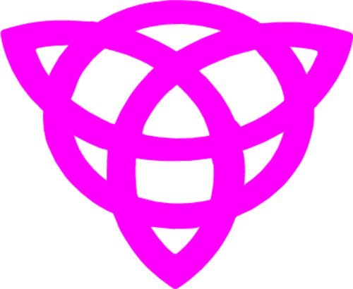 WickedGoodz Pink Celtic Knot Vinyl Decal Transfer - Irish Bumper Sticker - Triquetra Celtic Gifts-WickedGoodz