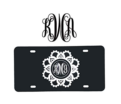 Custom Gift Pack Monogram Initial Decal and License Plate-WickedGoodz