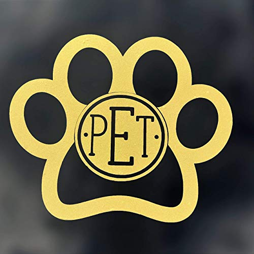 Monogram Pet Paw Vinyl Decal Initial Sticker-WickedGoodz