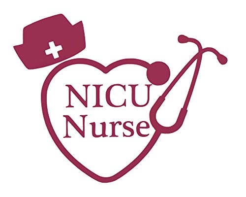 Custom NICU Nurse Stethoscope Vinyl Decal - Nursing Student Bumper Sticker, for Tumblers, Laptops, Car Windows - Nursing Hat Sticker - Pick Size and Color-WickedGoodz