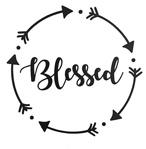 Personalized Blessed Vinyl Decal - Arrow Bumper Sticker, for Tumblers, Laptops, Car Windows - Pick Size and Color-WickedGoodz