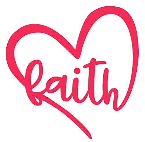 Custom Faith Heart Vinyl Decal-WickedGoodz