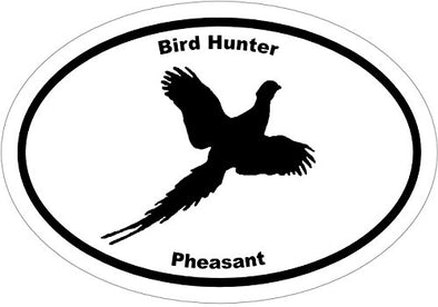 WickedGoodz Oval Vinyl Bird Hunter Pheasant Decal, Bird Hunting Bumper Sticker, Upland Hunting Gift-WickedGoodz