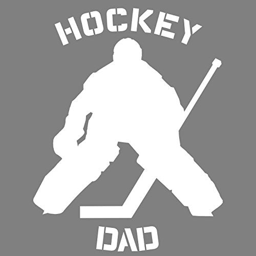WickedGoodz Proud Hockey Goalie Dad Vinyl Decal Transfer - Sports Bumper Sticker - Perfect Ice Hockey Dad Gift-WickedGoodz