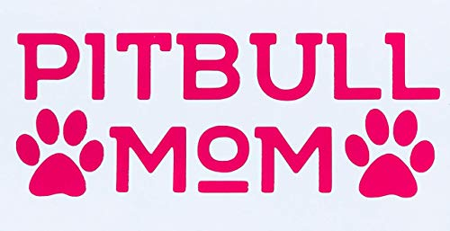 Custom Pit Bull Mom Vinyl Decal Bumper Sticker-WickedGoodz
