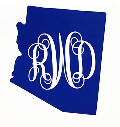Custom Arizona Vine Monogram Vinyl Decal-WickedGoodz