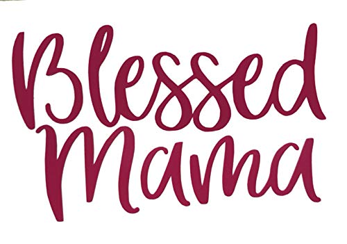 Personalized Blessed Mama Vinyl Decal - Bumper Sticker, for Tumblers, Laptops, Car Windows - Pick Size and Color-WickedGoodz