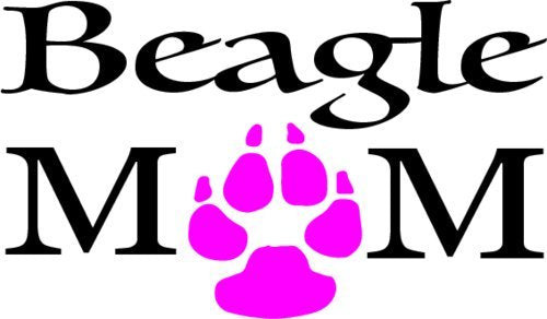 WickedGoodz Beagle MOM Vinyl Window Decal Transfer - Beagle Bumper Sticker - Perfect Beagle Owner Gift - Made in The USA-WickedGoodz